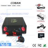 Perseguidor Tk105b do veículo do GPS com o sensor de temperatura do leitor da câmera RFID do limitador da velocidade