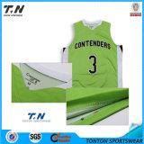 2016 uniformes reversibles del baloncesto de la nueva sublimación de encargo