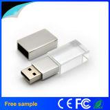 Lecteur flash USB en cristal 8GB de logo fait sur commande de gravure d'aperçu gratuit