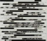Mosaïque en cristal matérielle de tuile de mosaïque d'acier inoxydable de décoration de mur (FYMC016)