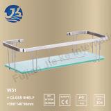 Prateleira de vidro do canto do banheiro do aço inoxidável do retângulo (W51)