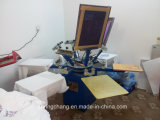 6カラー6 Station Manual T Shirt /Fabric Screen Printing MachineかScreen Printer Spm650
