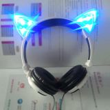 2016 New Invention LED Light Glowing Cat Ears Headphone for Young Girls