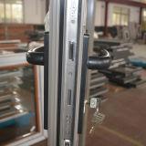 Porte en aluminium de tissu pour rideaux de profil de l'interruption Kz270 thermique avec la moustiquaire et le réseau en acier dans la double glace