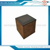 PU оптовой продажи бархата коробки двойного кольца коробки кольца бархата сбор винограда покрыл античную коробку ювелирных изделий