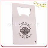 クレジットカードのサイズのステンレス鋼の習慣によって印刷される栓抜き