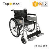 Topmedi Ausrüstungs-preiswerter Preis-Puder-Schichts-Stahl-Rollstuhl