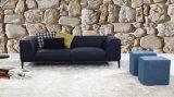 Sofá de couro com três assentos para casa usada (SF1070)