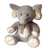 プラシ天のベロア象のおもちゃ