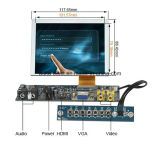 """Indicador TFT LCD de SKD 5 de """" com entradas de VGA/AV/HDMI"""
