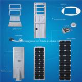 5 anos de garantia 50With60W todo em uma luz de rua solar com ISO9001, Ce do diodo emissor de luz aprovado