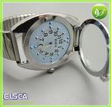 Tipo relógio do toque de quartzo de Braille para a pessoa cega