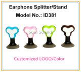 Colore personalizzato di marchio che fa pubblicità al regalo per il basamento del telefono del divisore del trasduttore auricolare (ID381)
