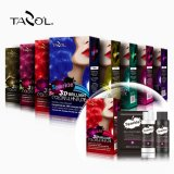 Couleur folle 30ml+60ml+60ml Brown de cheveu semi-permanent normal cosmétique de Tazol