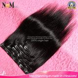 8 Zoll Klipp-im Menschenhaar-Extensions-indischen geraden Klipp Grad des Haar-Extensions-im natürlichen menschlichen Jungfrau-Haar-7A geben Verschiffen frei