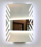 Geleuchtete Fogless Badezimmer-Dusche, die Spiegel des Badezimmer-LED rasiert