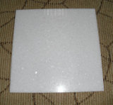 Marmo bianco puro delle mattonelle di marmo bianche di cristallo