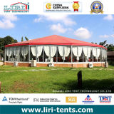 Big al aire libre Red Top Round Tent con Galss Walls y Sidewall Curtains para Events