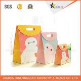Bolsa de papel de encargo del diseño lindo caliente de la venta con la maneta
