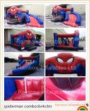 Trasparenza gonfiabile di vendita calda di ragno dell'uomo dello Spider-Man rimbalzante gonfiabile del castello (RB3012)