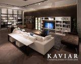 Salone moderno Furniture Lacquered Side Table con Glass Shelf (TN105)