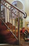 Pipe de décoration gravée en relief par vente en gros d'acier inoxydable pour la pêche à la traîne d'escalier