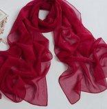 Sciarpa pura chiffona di colore rosso di colore del poliestere popolare di stile di Eropean