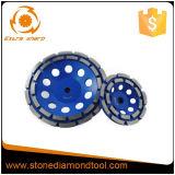 Колесо чашки диаманта меля диска двойного рядка конкретное