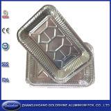 Boîte à papier en aluminium jetable pour usage alimentaire au barbecue
