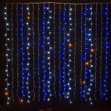 Luz decorativa barata da cortina da chuva do diodo emissor de luz da luz da cortina do diodo emissor de luz da luz da cortina do diodo emissor de luz