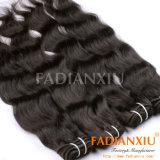 自然な波のバージンのインドの毛の織り方