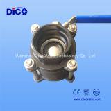 Socket Weld Válvula de bola de acero inoxidable (WCB) tripartita Clase 150