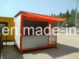 Barra de café móvil/casa prefabricadas de la fuente grande/prefabricadas en la calle