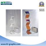 3 capas plegables el modelo pie del estante del catálogo