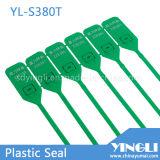 Feste wegwerfbare kundenspezifische Plastikdichtungs-Marke (YL-S380T) ziehen