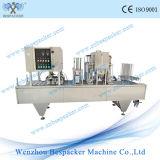 Máquina de enchimento giratória comercial automática do gelado de copo de papel