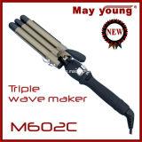 Hierro que se encrespa del mejor del precio de M602c de la maneta del diseño del Tourmaline de la capa pelo cómodo del barril