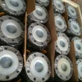 Válvula de bola de acero inoxidable ANSI 150 libras 2PC reborde flotante con base de montaje