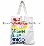 Promocional Custom Impresso Eco amigável pano de cálcio reutilizável Carry Bag 100% Natural Tote de compras de algodão orgânico Bolsas
