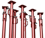O suporte de aço ajustável sustenta o andaime