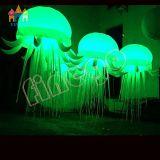 Finego weiße bunte hängende aufblasbare LED Qualle-Beleuchtung für Pary Ereignis-Stadiums-Dekoration