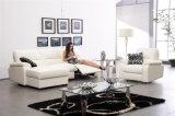 El sofá de la sala de estar con el sofá moderno del cuero genuino fijó (636)
