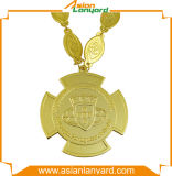 주문을 받아서 만들어진 도금된 고대 금 스포츠 메달