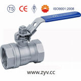 1PC de Haven van Reduced, Ss304, 1000wog (PN64) Screwed Ball Valve