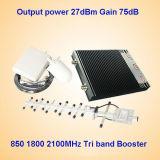 CDMA 850MHz der DCS-1800 Lte 3G 2100MHz Netz-Signal-Verstärker Signal-Verstärker-Mobiltelefon-Signal-Ergänzung-GSM900MHz, G-/Msignal-Verstärker