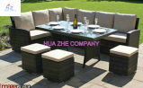 Strato sezionale del cortile Hz-Bt35 del rattan del patio del sofà di vimini esterno della mobilia impostato - mare blu