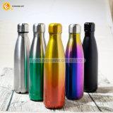 La catégorie comestible 17oz a estampé la bouteille d'eau isolée par vide d'acier inoxydable