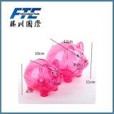 Конструкция свиньи коробки деньг пластичной маленькой формы свиньи Piggy