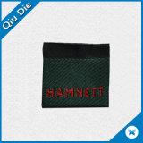 Etiqueta tecida da roupa de Overlock poliéster feito sob encomenda decorativo