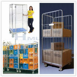 Металл Storage Wire Mesh Cages с Wheels